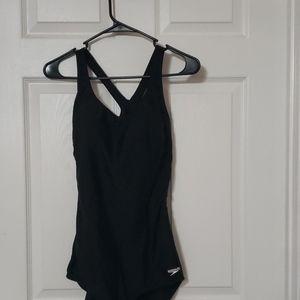 Black speedo  one piece swim suit